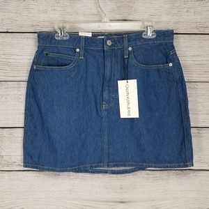 Calvin Klein Denim Jean Mini Skirt High Rise NWT